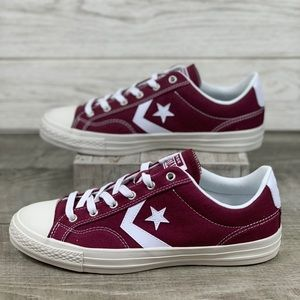 Converse All Star Player OX Dark Burgundy/White